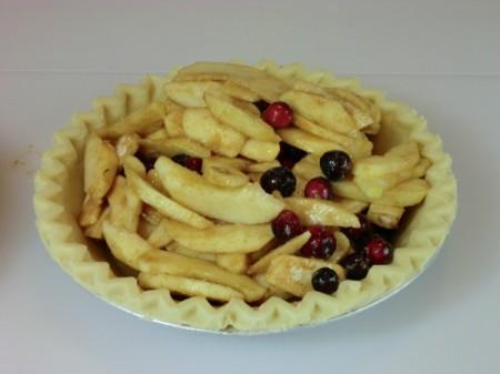 filling in pie shell