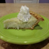 slice of coconut custard pie