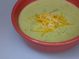bowl of potato leek soup