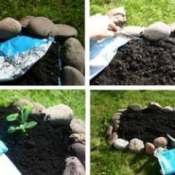 A easy raised bed from a bag of soil.