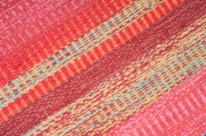 Photo of a colorful area rug.