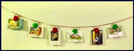 Finished hangers with cards.