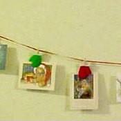 Closer view of hangers.