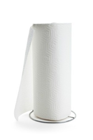 A roll of paper towels.