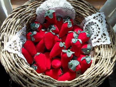 Finished berries in a basket.