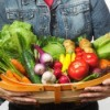 A basket of produce from a CSA