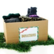 Box of Christmas donations.
