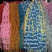 A colorful array of beads