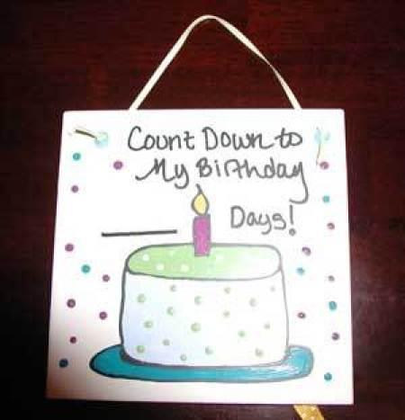 Dry Erase Birthday Tile