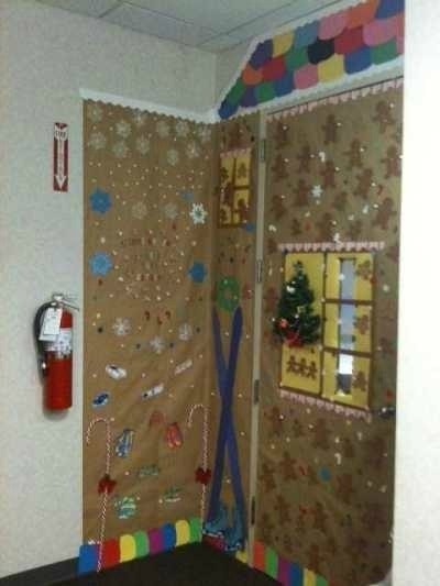 Christmas decorating ideas for office door thriftyfun for Fun office decorating ideas