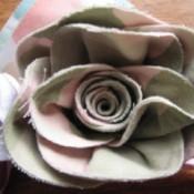 Scrap Fabric Roses