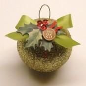 Glitter ornament.