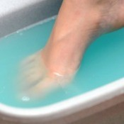 Soothing aching feet for Mother's Day.