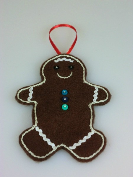 finished gingerbread man