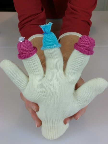 hats on glove