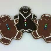 Felt Gingerbread Man Ornaments