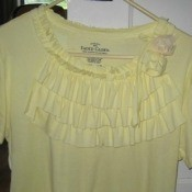Ruffles on a yellow T-shirt
