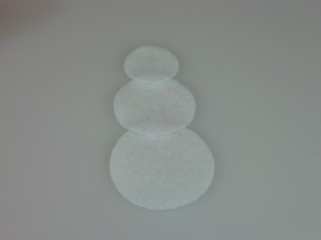cut out snowman circles