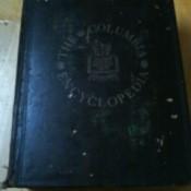 Blue bound volume of Columbia encyclopedia.