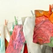 Drying Children's Paintings