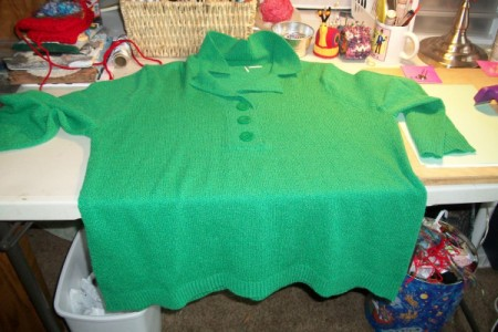 Undecorated sweater.