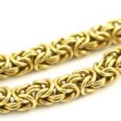 A gold chain.
