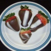 Chocolate Striped Strawberries