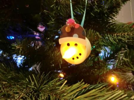 snowman on tree