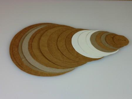 Cardboard templates.
