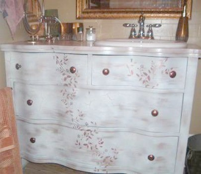 Bathroom Vanity Made From An Old Dresser