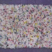 Hooked Rug Using Plastic Bags
