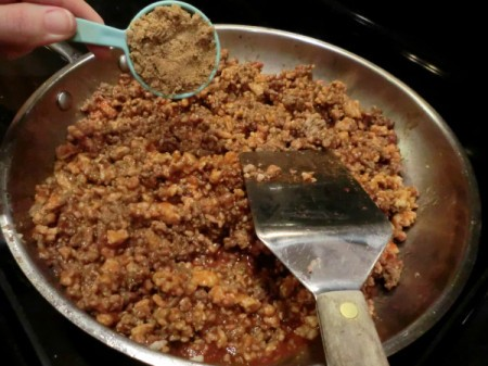 Homemade Sloppy Joes - add brown sugar