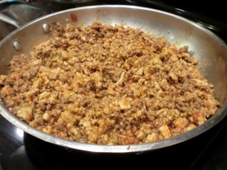 Homemade Sloppy Joes - finished meat