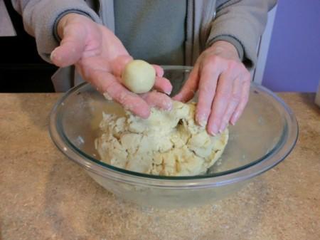 moist dough