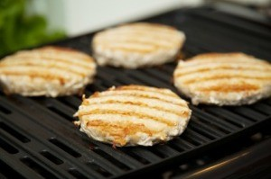 Ground Turkey Burgers on Grill