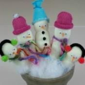 Glove Snowmen