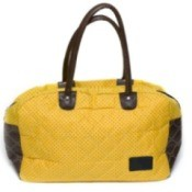 Photo of a yellow fabric purse.