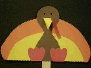 Turkey Stick Puppet