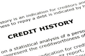 Credit history document.