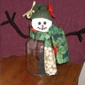 Recycled Jar Snowman