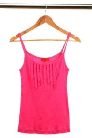 A tank top on a hanger.