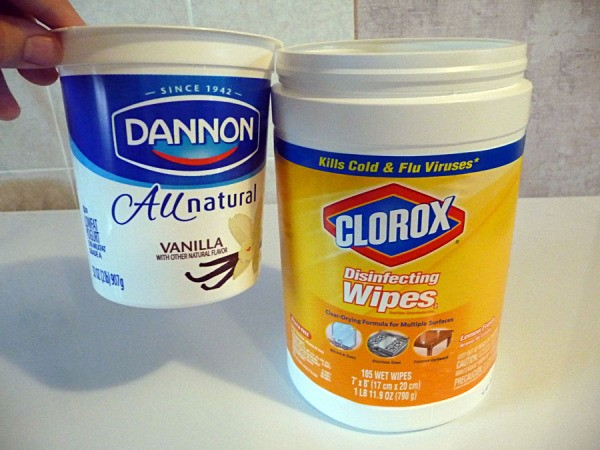 yogurt and wipes containers