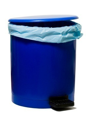 Blue Trash Can