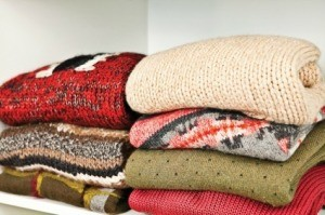 Organized Winter Sweaters