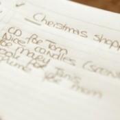 Christmas gift list.