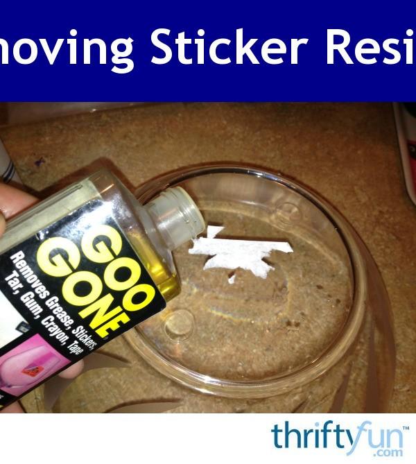 Removing Sticker Residue | ThriftyFun