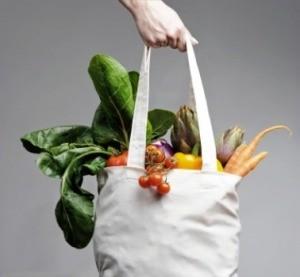 A bag full of fresh produce.
