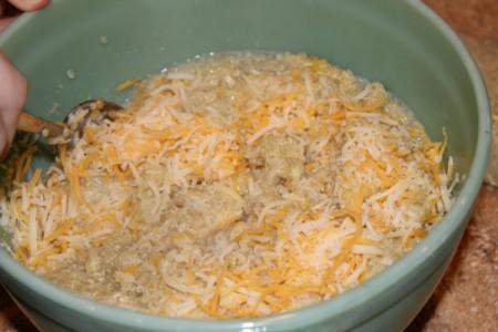 adding cheese