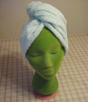 Homemade Hair Towel Wrap
