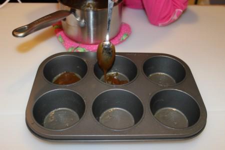 add brown sugar mixture to pan